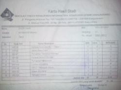 Berkas KHS semester 1